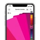 Nouvelle application gratuite Spandex ColorBox, composée des nuanciers multi-marques et d'un lien direct vers le site de ventes en ligne Spandex